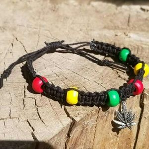 Jewelry - Rasta hemp bracelet